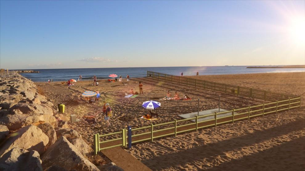 Actualitat: La platja de Llevant de Barcelona s'obre als gossos.